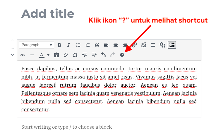 Tutorial Rata Kanan Kiri di Gutenberg WordPress